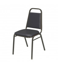 "KFI Seating IM810BK Vinyl 1.5"" Padded Seat Stacking Chair (Black)"