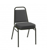"KFI Seating IM820BK Fabric 2"" Padded Seat Stacking Chair (Black)"