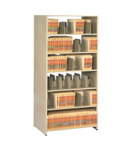 "Tennsco Imperial Double-Sided 24"" D Open-Back Shelving Units, Letter"