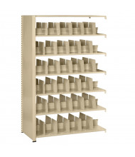 "Tennsco Imperial Double-Sided 24"" D Open-Back Add-On Shelving Units, Letter"