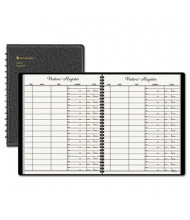 "At-A-Glance 8-1/2"" x 11"" 60-Page Recycled Visitor Register Book, Black Cover"