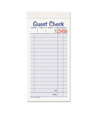 "Adams 3-3/8"" x 6-7/8"" 10-Pack Guest Check Set, 50-Forms"