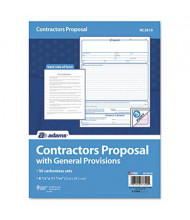 "Adams 8-1/2"" x 11"" Contractor Proposal Form, 50-Forms"