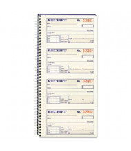 "Adams 2-3/4"" x 4-3/4"" 200-Page Rent Receipt Book"