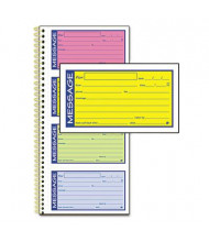 "Adams 5-1/4"" x 11"" 200-Page Wirebound Telephone Message Book"
