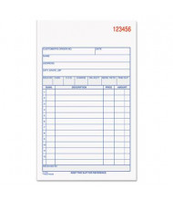 "Adams 4-3/16"" x 7-3/16"" 50-Page 3-Part Carbonless Sales Order Book"