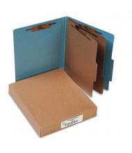 Acco 6-Section Letter Pressboard 20-Point Classification Folders, Sky Blue, 10/Box