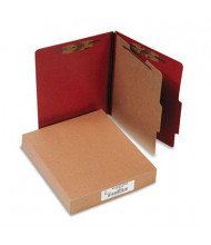Acco 4-Section Letter Pressboard 25-Point Classification Folders, Earth Red, 10/Box