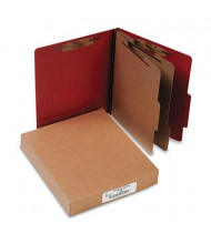 Acco 6-Section Letter Pressboard 25-Point Classification Folders, Earth Red, 10/Box