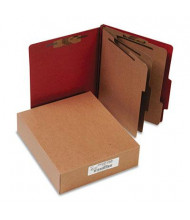 Acco 8-Section Letter Pressboard 25-Point Classification Folders, Earth Red, 10/Box