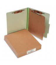 Acco 4-Section Letter Pressboard 25-Point Classification Folders, Leaf Green, 10/Box