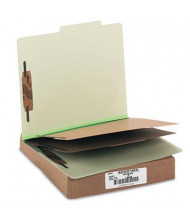 Acco 6-Section Letter Pressboard 25-Point Classification Folders, Leaf Green, 10/Box