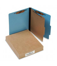 Acco 4-Section Letter Presstex 20-Point Classification Folders, Light Blue, 10/Box