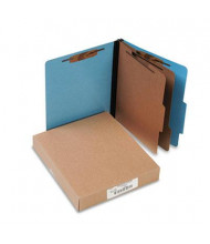 Acco 6-Section Letter Presstex 20-Point Classification Folders, Light Blue, 10/Box