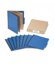 Acco 6-Section Letter Presstex 20-Point Classification Folders, Dark Blue, 10/Box