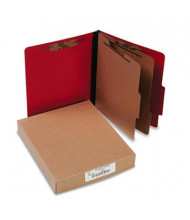 Acco 6-Section Letter Presstex 20-Point Classification Folders, Executive Red, 10/Box