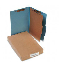 Acco 4-Section Legal Pressboard 25-Point Classification Folders, Sky Blue, 10/Box