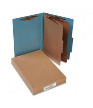 Acco 6-Section Legal Pressboard 20-Point Classification Folders, Sky Blue, 10/Box