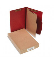Acco 4-Section Legal Pressboard 25-Point Classification Folders, Earth Red, 10/Box