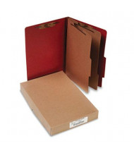 Acco 6-Section Legal Pressboard 25-Point Classification Folders, Earth Red, 10/Box