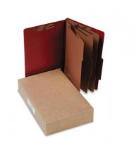 Acco 8-Section Legal Pressboard 25-Point Classification Folders, Earth Red, 10/Box