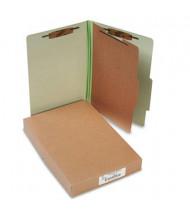 Acco 4-Section Legal Pressboard 25-Point Classification Folders, Leaf Green, 10/Box