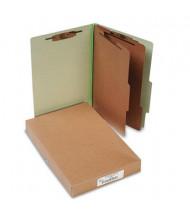Acco 6-Section Legal Pressboard 25-Point Classification Folders, Leaf Green, 10/Box