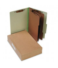 Acco 8-Section Legal Pressboard 25-Point Classification Folders, Leaf Green, 10/Box