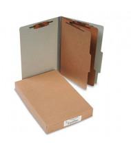 Acco 6-Section Legal Pressboard 25-Point Classification Folders, Mist Gray, 10/Box