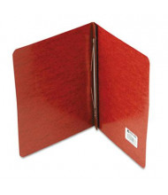 """Acco 3"""" Capacity 8-1/2"""" x 11"""" Prong Clip Pressboard Reinforced Hinge Report Cover, Red"""