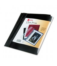 """Acco 1/2"""" Capacity 8-1/2"""" x 11"""" Prong Clip Report Cover, Black"""
