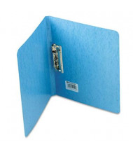 "Acco 5/8"" Capacity 8-1/2"" x 11"" Presstex Grip Punchless Spring-Action Clamp Binder, Light Blue"