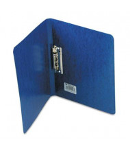 "Acco 5/8"" Capacity 8-1/2"" x 11"" Presstex Grip Punchless Spring-Action Clamp Binder, Dark Blue"