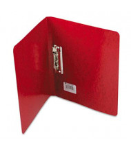 "Acco 5/8"" Capacity 8-1/2"" x 11"" Presstex Grip Punchless Spring-Action Clamp Binder, Red"