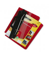 "Acco 8-1/2"" x 11"" 3-Hole Pressboard Hanging Expandable Binder, Red"