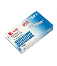 """Acco 2-3/4"""" Length 3-1/2"""" Capacity Compressors for File Fastener Prong Bases, 100/Box"""
