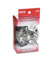 Acco Assorted Size Silver Presentation Clips, 30/Box