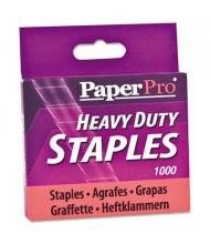 """PaperPro 100-Sheet Capacity Heavy-Duty Staples, 1/2"""" Leg, 1000/Box"""