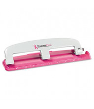 PaperPro 12-Sheet Compact 3-Hole Punch, Pink