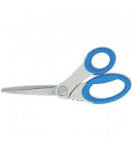 "Westcott Scissors with Antimicrobial Protection, 8"" Length, Bent, Blue/Gray"