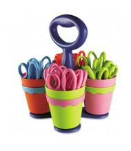 "Westcott 5"" Blunt Microban Kids Scissors with Caddy, 24/Pack"