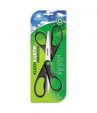 "Westcott KleenEarth Scissors, 8"" Length, 2-Pack, Black"