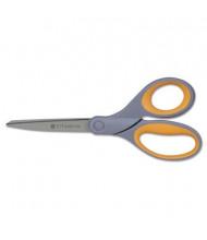 "Westcott Titanium Bonded Left Handed Scissors, 8"" Length, Yellow/Gray"