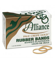 "Alliance 3"" x 1/8"" Size #32 Pale Crepe Gold Rubber Bands, 1 lb. Box"