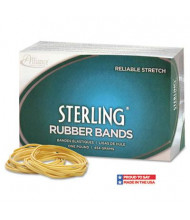 """Alliance 1-1/4"""" x 1/16"""" Size #10 Sterling Ergonomically Correct Rubber Bands, 1 lb. Box"""