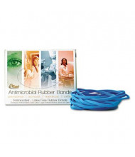 "Alliance 7"" x 1/8"" Size #117B Antimicrobial Non-Latex Cyan Blue Rubber Bands, 1/4 lb. Box"