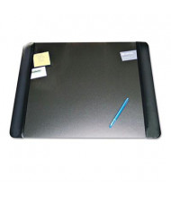 "Artistic 24"" x 19"" Executive Desk Pad with Leather-Like Side Panels, Black"