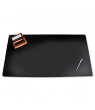 "Artistic 24"" x 38"" Sagamore Desk Pad with Decorative Stitching, Black"