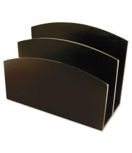 Artistic 2-Section Eco-Friendly Bamboo Curves Letter Sorter, Espresso