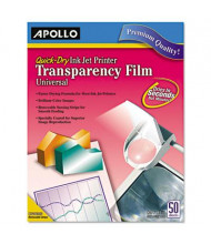 "Apollo 8-1/2"" x 11"", 50-Sheets, Quick-Dry Inkjet Printer Transparency Film"